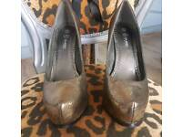 Bronze gold heels size UK 9