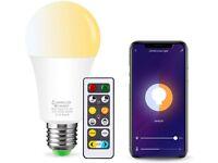 E27 LED Smart Light Bulb works with Alexa, Google & Siri - WiFi Control - No Hub Required