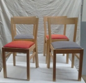 4 +1 Ikea Dining Chairs in need of a little TLC a quick polish and some material
