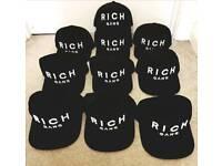 10 X Rich Gang baseball cap/hat BN SNAPBACK RRP £140