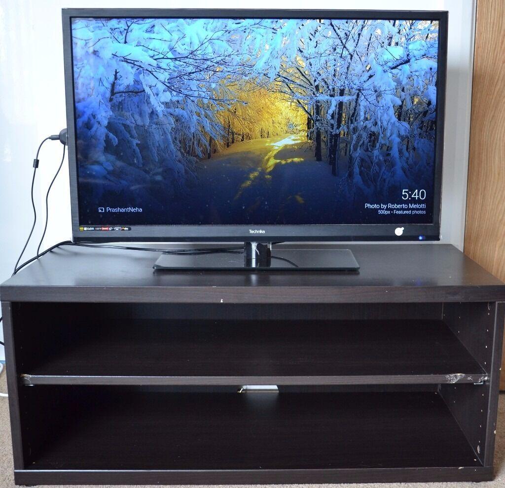 brown ikea mosj tv bench tv rack or tv stand in. Black Bedroom Furniture Sets. Home Design Ideas