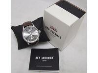 BEN SHERMAN WB047BR Men's London Spitalfields Vinyl Watch