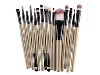 Brown 15 piece make up brush set