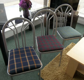 Big Donation of Metal Framed & Fabric Seated Cafe Chairs Has Just Come In Only £5 Each