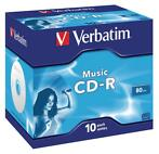 Music CD-R 80 min Jewel Case 10 stuks