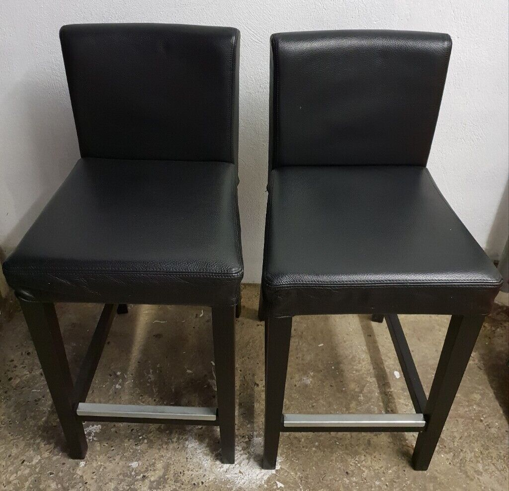 Super Two Ikea Henriksdal Leather Bar Stools 63Cm In Bexley London Gumtree Machost Co Dining Chair Design Ideas Machostcouk