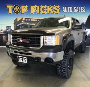 2012 GMC Sierra 1500 Crew Cab, 4x4, 6 Lift, 20 Wheels on 35 Tire
