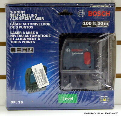 Bosch GPL 3 S 100 ft 3-point Self-Leveling Alignment Laser
