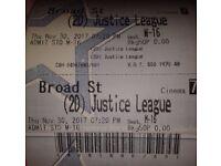 £1 Justice League 2D Standard Adult tickets Cineworld Birmingham Broad Street
