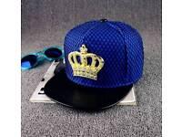Metal crown cap hip hop cap street tide mesh brand new
