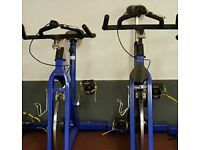 Spinning bike for sale in great order, blue READY TO get fit