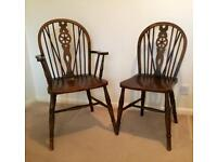 Wheelback dining chairs - early 20th century