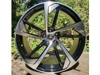 "Audi A4 A5 A6 VW Scirocco x4 19"" RS5 Style Alloy Wheels Black Pol 8.5J Et35"