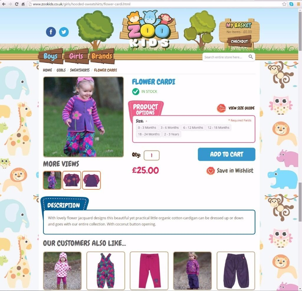 Kids Childrens and baby clothing fashion website business for salein Newcastle under Lyme, StaffordshireGumtree - zookids Stock is not included in sale. If you are interested please contact me and I will be happy to answer your questions and send a full list of everything that's included. This is a great opportunity to acquire stunning high end baby clothing...