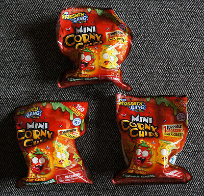 3 The Grossery Gang Mini Corny Chips 1 GrosseryGang + Milk Crate Comic Con Lot