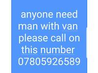 man with van available 24hours service