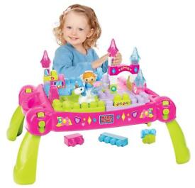 Princess mega bloks table with bloks