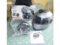 Crash Helmet Flip Up Size Medium, Sun Visor, Vented