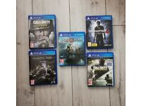Playstation 4 Games Bundle - God of war Call of duty (Read Description)