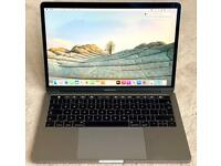 """MACBOOK PRO 13"""" 2017 UPGRADED TOUCH BAR MODEL i7, 8gb MEM, 256gb SSD, SPACE GREY, MINT CONDITION"""