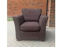 Large low seating comfortable armchair
