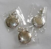 Silver Plated Photo Locket Zipper Pulls Pkg of 3 Brand New