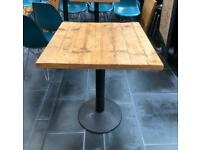 PRICE REDUCED Solid Wooden Bar/Restaurant Tables with cast iron metal base