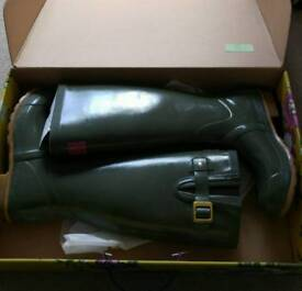 Joules Glossy Green Wellies - Size 4