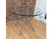 M&S Circular Clear Glass Coffee Table, New & Boxed