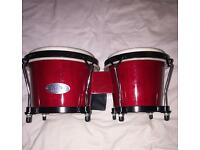 Toca Synergy Series Bongo Drums Set - Red