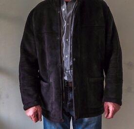 Mens faux sheepskin coat.