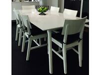 White Dining Table, seats 6