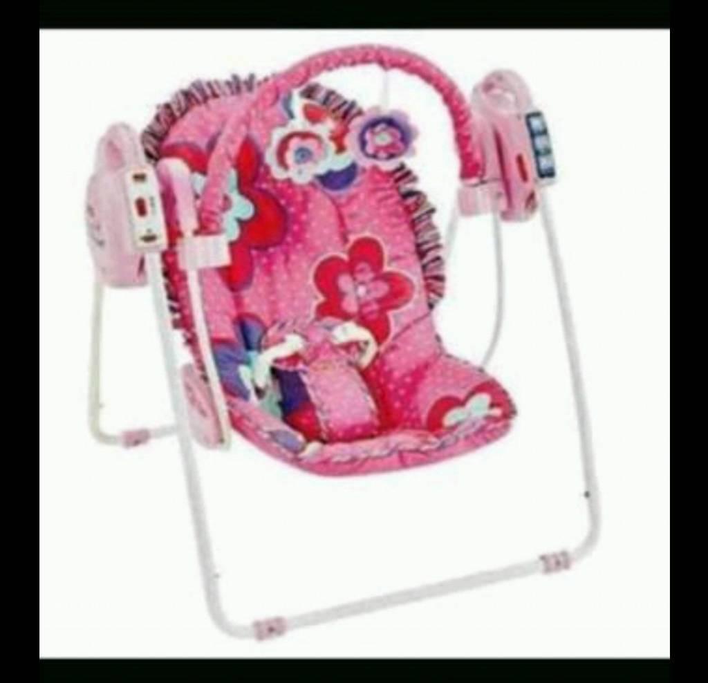 Fisher Price Pink Petals Baby Swing Rocking Chair Seat