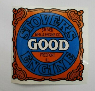 Stovers Good Engine Decal Gas Engine Motor