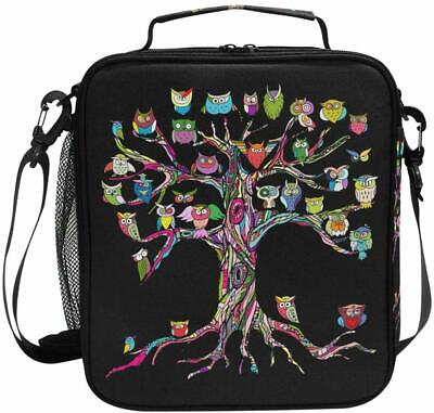 ALAZA Cooler Lunch Box Old Tree with Owls Insulated Lunch Ba