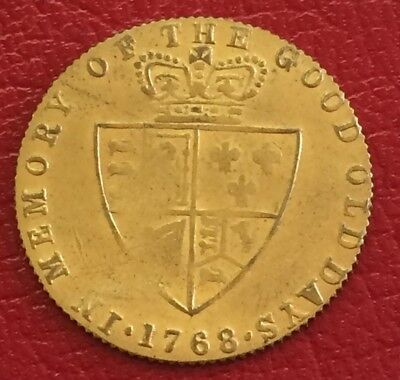1768 George III full guinea gaming token