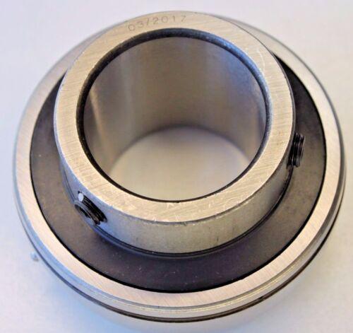 Premium UC207 Insert Bearing 35mm Bore w/Set Screw & Chevron Grease Re-Lube Type