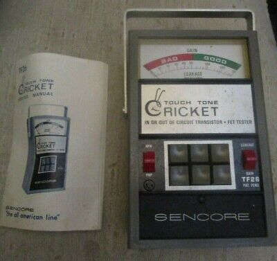 Sencore Tf26 Touch Tone Cricket In Or Out Of Circuit Transistor Fet Tester