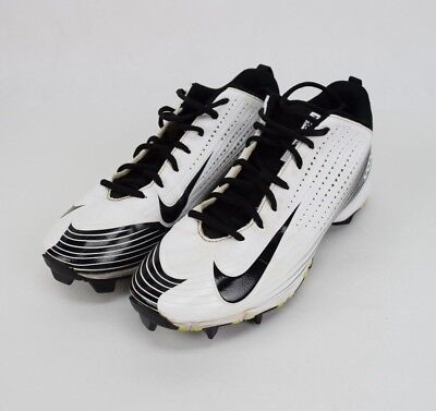 92782cf2eb89 Nike Men's Sports Cleats Shoe Football 9 White / Black 684698-100 Vapor  Speed