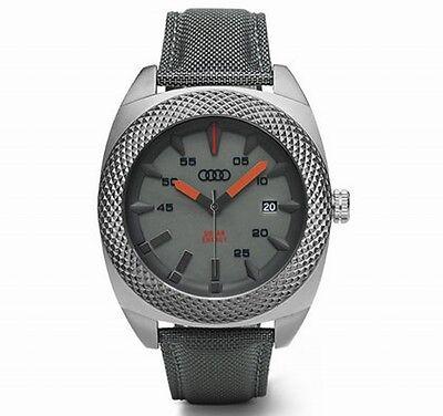 Original Audi Uhr,Audi Armbanduhr,Audi Solaruhr ohne Batterie, 46mm, quantumgrau