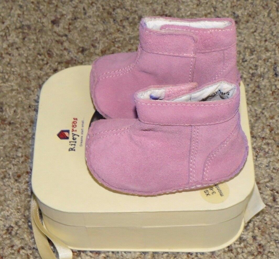 Rileyroos Baby Girls Pink Mist Boots - Size XS (3-6 Months) - NEW With Box 1