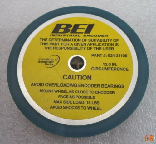 BEI Encoder Bearing Wheel Assembly, 12-in. circumference, p/n 924-31196