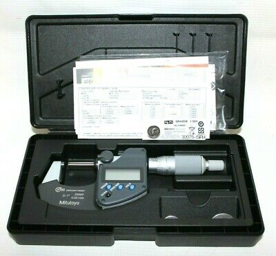 Mitutoyo 293-340-30 1 Outside Digital Micrometer With Ratchet Stop Wo Spc