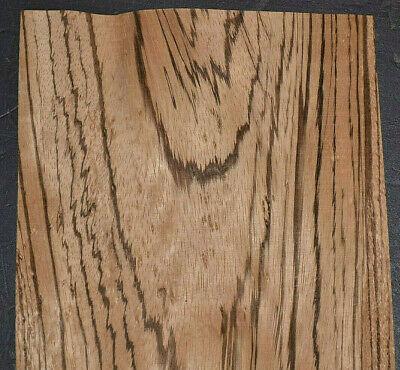 Zebrano Wood Veneer Sheets 7.5 X 49 Inches 142nd Rare Birdseye Figure  4742-12