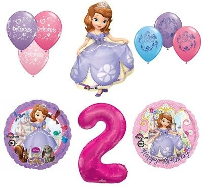 Disney's Sofia the First 2nd Happy Birthday Party Balloons Decoration Supplies b - Sofia The First First Birthday