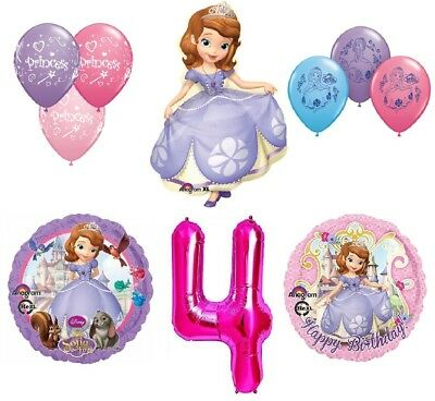 Disney's Sofia the First 4th Happy Birthday Party Balloons Decoration Supplies b - Sofia Balloons