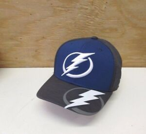 103709bd NEW NHL TAMPA BAY LIGHTNING MEN'S EMBROIDERED REEBOK FLEX FIT CAP HAT ...