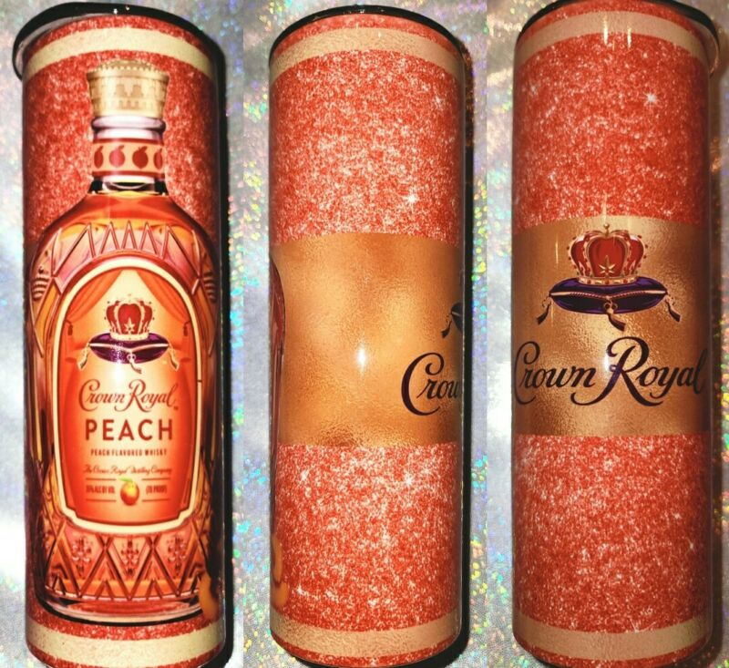 Peach Crown Royal Tumbler