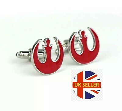 Rebel Alliance Star Wars Cufflinks Jedi Skywalker Darth Vader 🇬🇧