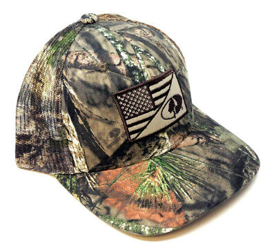 Used, MOSSY OAK AMERICAN FLAG LOGO CAMO MESH TRUCKER SNAPBACK HAT CAP HUNTING OUTDOOR for sale  Shipping to South Africa